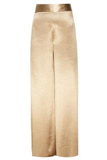 Фактурные золотистые брюки Adolfo Dominguez