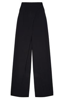 Черные брюки с запахом Adolfo Dominguez