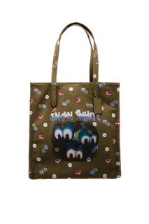 Зеленая текстильная сумка с принтом Coach b0b37409182ee