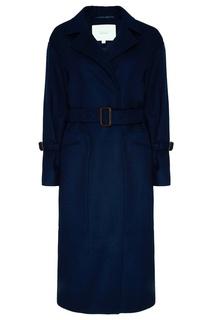 Синее пальто с поясом Akhmadullina Dreams