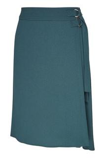 Зеленая юбка миди с запахом Adolfo Dominguez