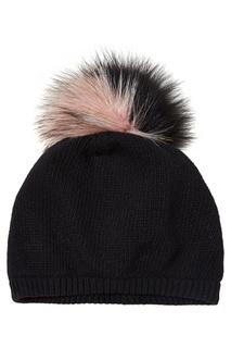 Черная шапка с помпоном Miu Miu