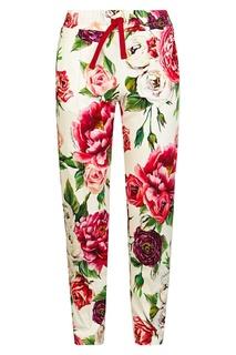 Брюки с цветочным принтом Dolce&Gabbana Kids