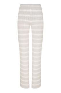 Вязаные брюки в полоску Amina Rubinacci