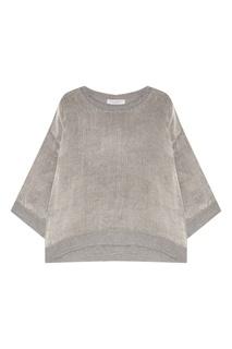 Серый пуловер из шерсти Amina Rubinacci