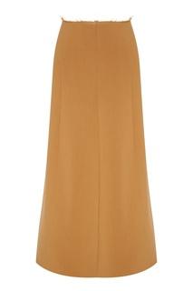 Расклешенная коричневая юбка Color°Temperature