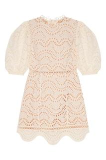 Ажурное белое мини-платье Zimmermann