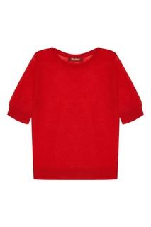 Красный джемпер Lella с короткими рукавами MAX Mara