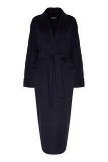 Черное пальто Algeri с поясом MAX Mara