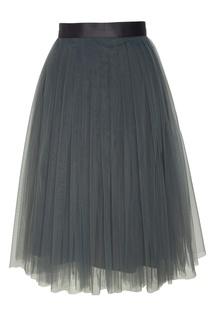 Зеленая юбка миди T Skirt