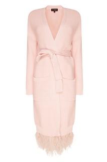 Розовый кардиган с перьями T Skirt