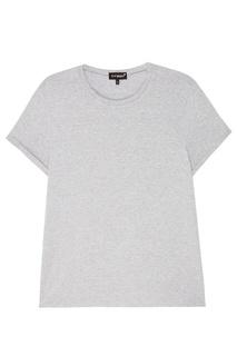 Серая футболка с бусинами T Skirt