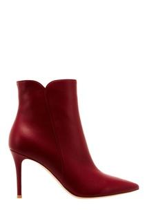 Красные кожаные ботильоны Gianvito Rossi