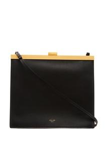 Черная кожаная сумка CÉline