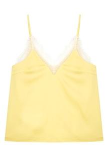 Желтый топ с кружевом T Skirt