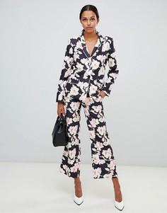 Широкие брюки с цветочным принтом Liquorish - Мульти