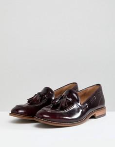 Кожаные туфли на плоской подошве с кисточками H By Hudson - Красный