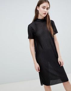 Платье миди Pieces Jose - Черный
