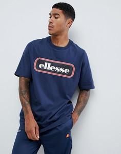 Темно-синяя oversize-футболка с логотипом ellesse Heroni - Темно-синий