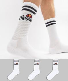 Набор из 3 пар белых носков ellesse Pullo - Белый