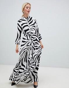 Платье-рубашка с принтом Y.A.S - Мульти