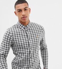Серая трикотажная рубашка в клетку Farah Bobby - Серый