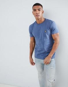 Синяя футболка с логотипом Lyle & Scott - Синий