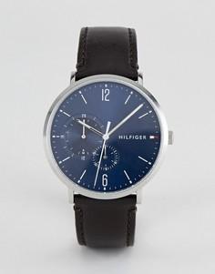 Часы с кожаным ремешком Tommy Hilfiger Brooklyn - 40 мм - Коричневый
