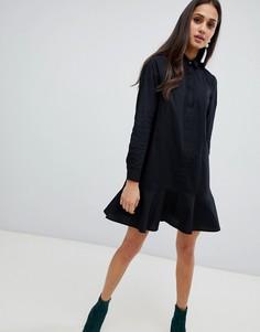 Платье-рубашка мини ASOS DESIGN - Черный
