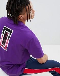 Фиолетовая футболка в стиле 90-х с принтом SWEET SKTBS - Фиолетовый