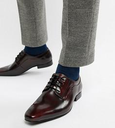Бордовые блестящие туфли дерби со шнуровкой Dune - Красный