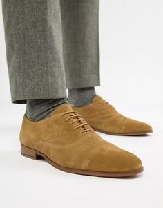 Светло-коричневые замшевые оксфордские туфли KG By Kurt Geiger - Рыжий
