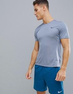 Серая футболка Nike Running Miler Tech 928307-445 - Серый