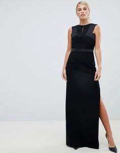 Структурированное атласное платье Forever Unique - Черный