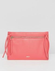Кожаная сумка через плечо с кисточками Paul Costelloe - Розовый