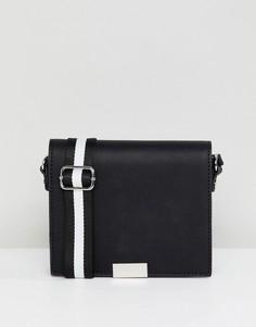 Черная сумка через плечо Pull&bear - Черный
