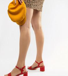Босоножки на низком блочном каблуке New Look Wide Fit - Красный