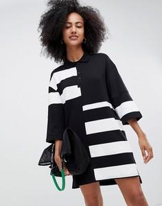 Oversize-платье регби в стиле колор блок Monki - Мульти