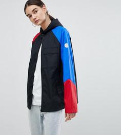 Черная куртка с рукавами в стиле колор блок Converse Cons Skate - Черный