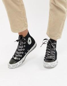 Черные высокие кеды с принтом Converse X Miley Cyrus Chuck Taylor All Star - Черный