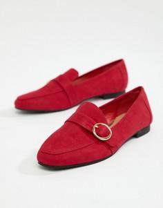 Красные лоферы из искусственной замши с пряжкой Head Over Heels by Dune Gisellaa - Красный