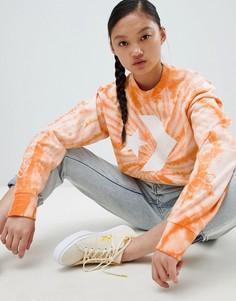 Оранжевый свитшот с принтом тай-дай Converse - Оранжевый
