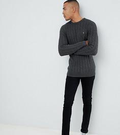 Темно-серый меланжевый джемпер Farah Ludwig - Серый