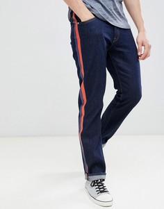 Прямые джинсы с полосами по бокам Calvin Klein Jeans - Синий