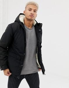 Черная куртка на флисовой подкладке River Island - Черный