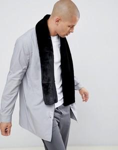 Черный шарф из искусственного меха River Island - Черный