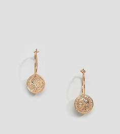 Миниатюрные серьги-кольца с подвесками-монетами Liars & Lovers - Золотой