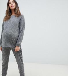 Комплект из свитшота и джоггеров ASOS DESIGN Lounge Maternity - Серый