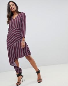 Платье в полоску с асимметричным краем Y.A.S - Мульти