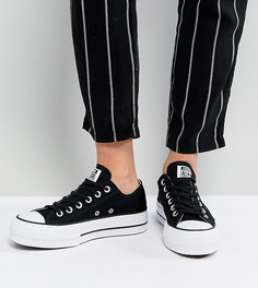 Черные кеды на платформе Converse Chuck Taylor All Star Ox - Черный